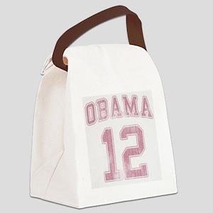 Obama 12 Vintage [Pink] Canvas Lunch Bag